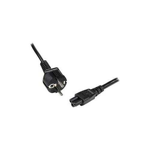 StarTech 1m 3 Prong Laptop Power Cord Schuko CEE7 to C5 Clover Leaf Power Cable Lead For Notebook 250 V AC Voltage Rating 2.50 A Current Rating Black PXTNB3SEU1M