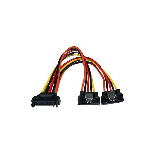 "StarTech 6in Latching SATA Power Y Splitter Cable Adapter M/F 6"" SATA SATA"