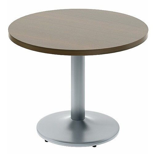 Quando Executive Meeting Table Round 1200mm Metal Base - Chestnut