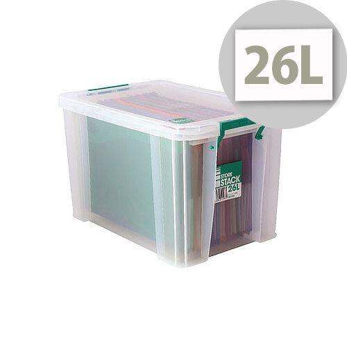 StoreStack 26L Plastic Storage Box W470xD300xH290mm RB11088
