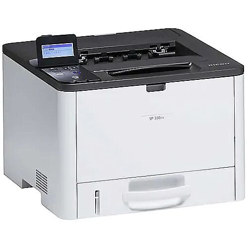 Ricoh SP330DN A4 Mono Laser Printer - 32ppm - Automatic Duplex -  USB 2.0 Type B - 1200x1200dpi - WiFi Option, Mobile Printing Airprint, Google Cloud Print