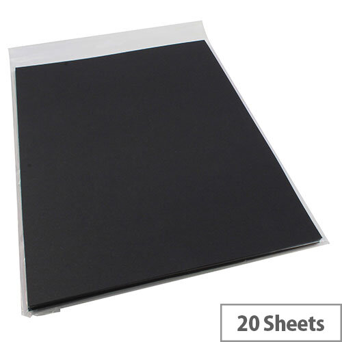RDI Office Black A4 Card Paper 210gsm Pack of 20 Sheets