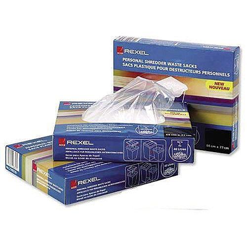 Shredder Waste Sack Pk100 AS3000 40095