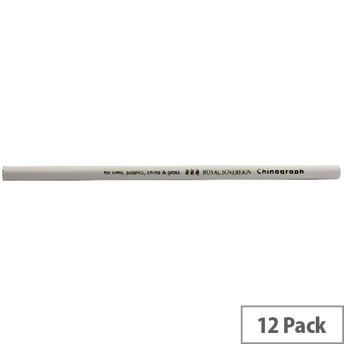 Royal Sovereign Chinagraph Marking Pencil White 12 Pack RS523055
