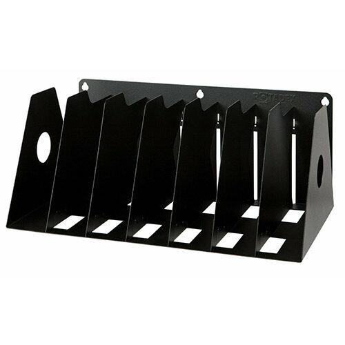 Rotadex Black 7 Section A4 Ringbinder Filing Unit