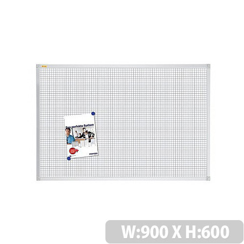 Franken Grid Board ValueLine 900x600mm Lacquered Steel RT3802