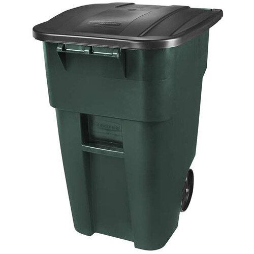 Rubbermail 189.3L BRUTE Rollout Container Wheelie Bin Green
