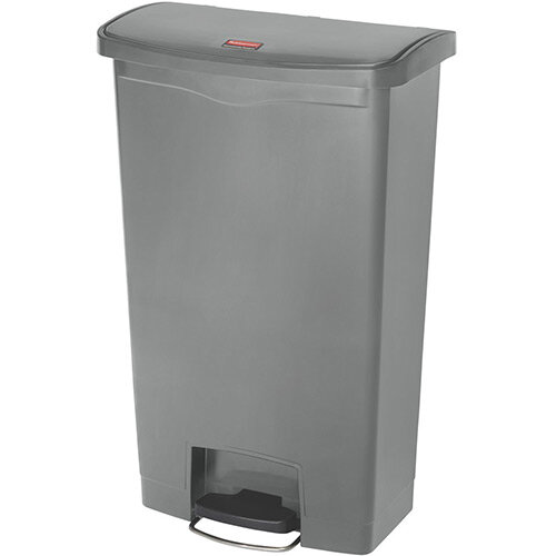 Rubbermaid Resin Slim Jim 68 Litre Front Step Step-On Pedal Bin Grey