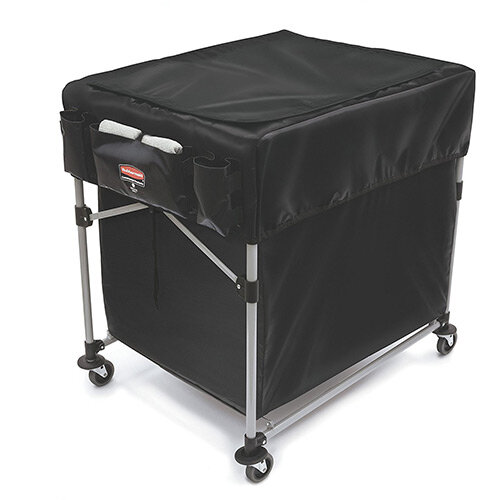 Rubbermaid 1889864 Collapsible X-Cart Cover For 300L Model Black