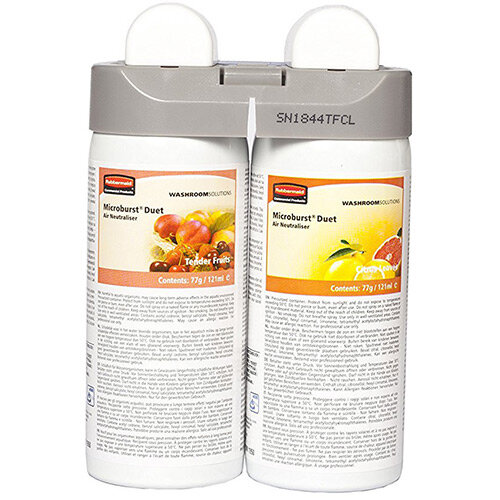 Rubbermaid Microburst Duet Fragrance Airfreshener Dispenser Refill Tender Fruits & Citrus Leaves Refills