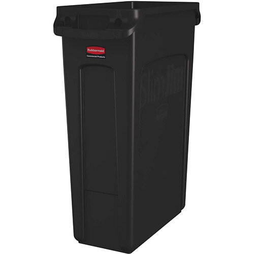 Rubbermaid Slim Jim 87L Waste Container With Venting Channels Brown