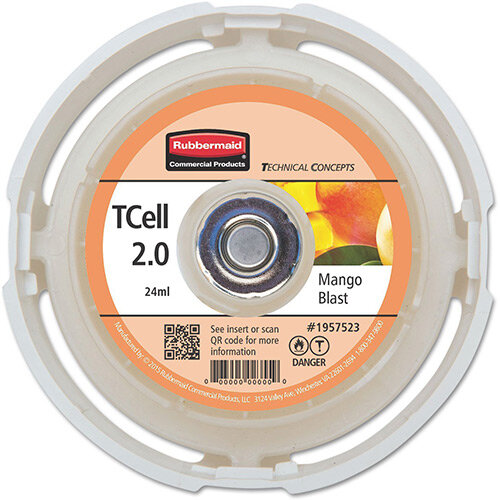 Rubbermaid Passive Air Care T-Cell 2.0 Airfreshener Dispenser Refill Cartridge Mango Blast
