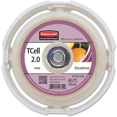 Rubbermaid Passive Air Care T-Cell 2.0 Airfreshener Dispenser Refill Cartridge Decadence