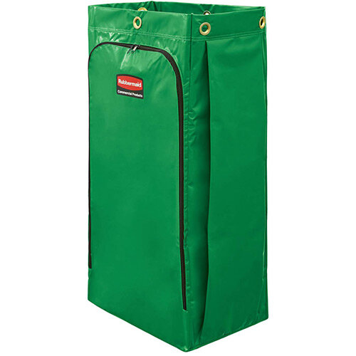 Rubbermaid High Capacity Vinyl Replacement Bag For High Capacity Cart 128L With Universal Recycling Symbol Green