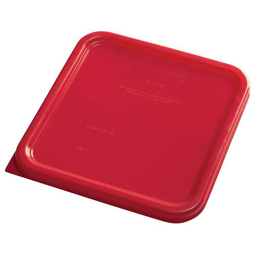 Rubbermaid Small Lid for 3.8L &7.6L Space Saving Square Food Storage Containers Red