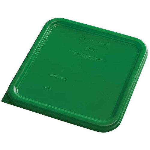 Rubbermaid Small Lid for 3.8L &7.6L Space Saving Square Food Storage Containers Green