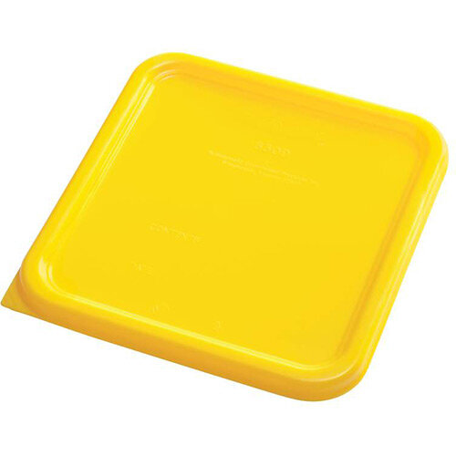 Rubbermaid Small Lid for 3.8L &7.6L Space Saving Square Food Storage Containers Yellow