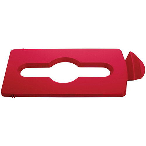 Rubbermaid Slim Jim Recycling Station Stream Topper Red Mixed Recycling Lid