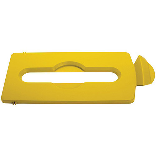 Rubbermaid Slim Jim Recycling Station Stream Topper Yellow Paper Slot Lid
