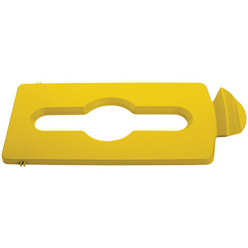 Rubbermaid Slim Jim Recycling Station Stream Topper Yellow Mixed Recycling Lid