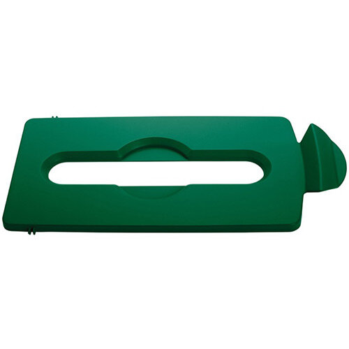 Rubbermaid Slim Jim Recycling Station Stream Topper Green Paper Slot Lid