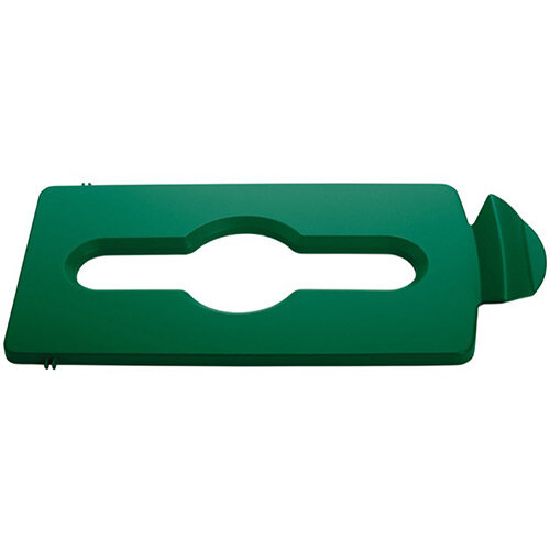 Rubbermaid Slim Jim Recycling Station Stream Topper Green Mixed Recycling Lid Insert