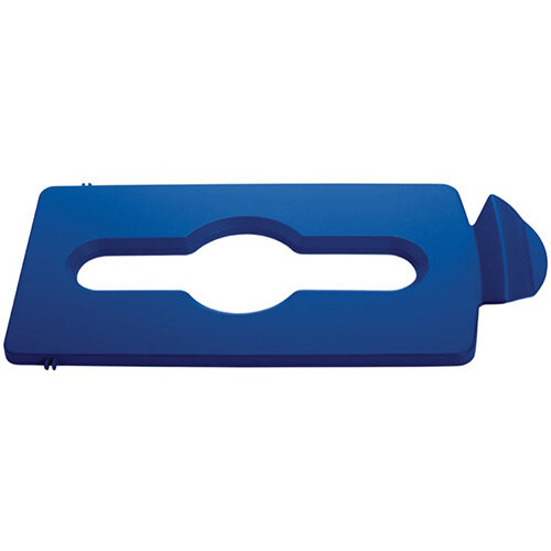 Rubbermaid Slim Jim Recycling Station Stream Topper Blue Mixed Recycling Lid
