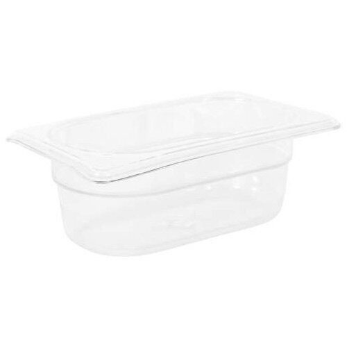 Rubbermaid 1/9 Size 65mm 0.6L Gastronorm GN Food Pan For Cold Food Clear