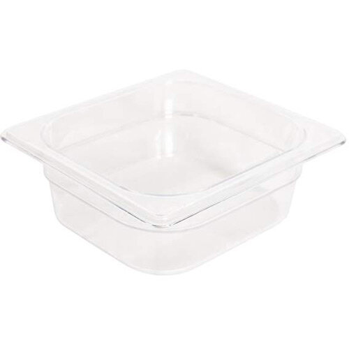 Rubbermaid 1/6 Size 65mm 1.1L Gastronorm GN Food Pan For Cold Food Clear