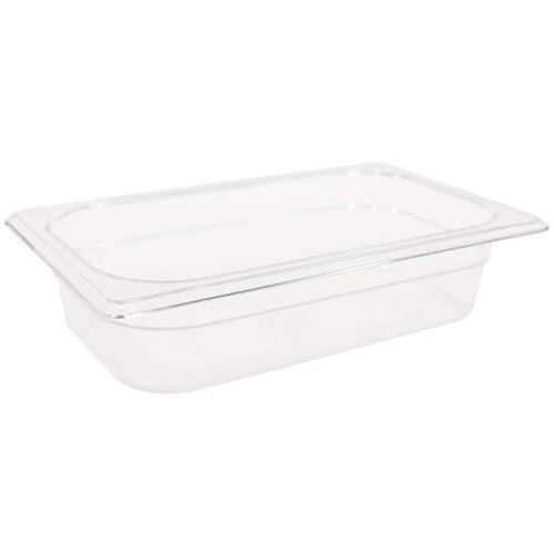 Rubbermaid 1/4 Size 65mm 1.6L Gastronorm GN Food Pan For Cold Food Clear