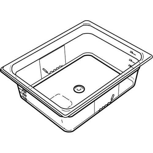 Rubbermaid 1/4 Size 100mm 2.4L Gastronorm GN Food Pan For Cold Food Clear