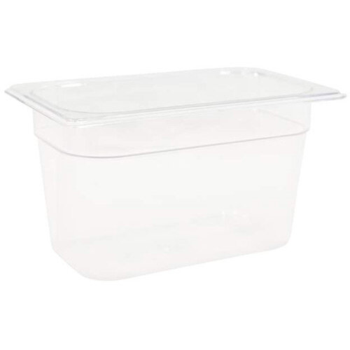 Rubbermaid 1/4 Size 150mm 3.8L Gastronorm GN Food Pan For Cold Food Clear