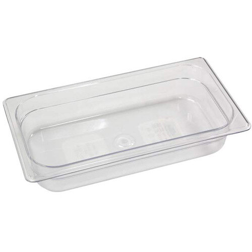 Rubbermaid 1/3 Size 65mm 2.5L Gastronorm GN Food Pan For Cold Food Clear