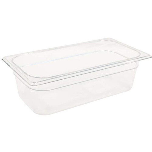 Rubbermaid 1/3 Size 100mm 3.8L Gastronorm GN Food Pan For Cold Food Clear