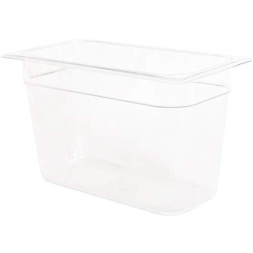 Rubbermaid 1/3 Size 200mm 7L Gastronorm GN Food Pan For Cold Food Clear