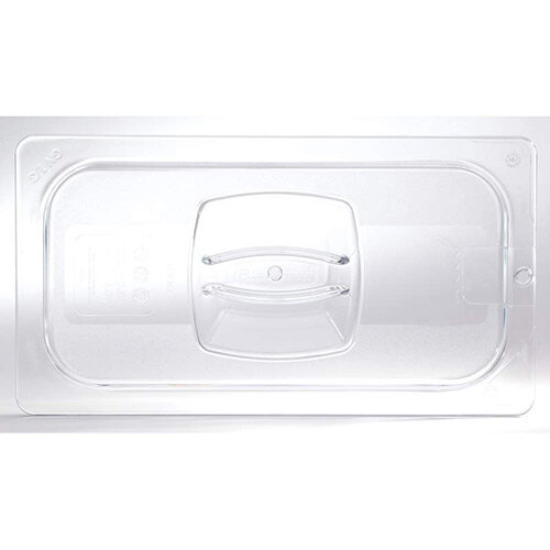 Rubbermaid 1/3 Size Gastronorm Hard Cover with Peg Hole For Cold Food Clear