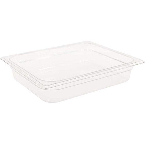 Rubbermaid 1/2 Size 65mm 3.8L Gastronorm GN Food Pan For Cold Food Clear