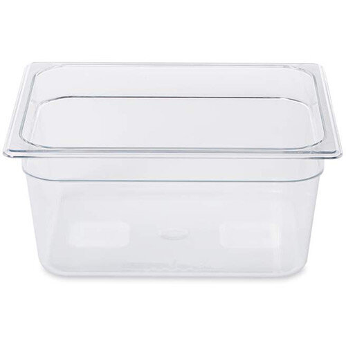 Rubbermaid 1/2 Size 150mm 8.8L Gastronorm GN Food Pan For Cold Food Clear