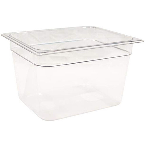 Rubbermaid 1/2 Size 200mm 10.8L Gastronorm GN Food Pan For Cold Food Clear