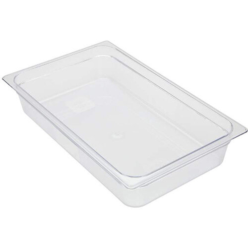 Rubbermaid 1/1 Size 100mm 13L Gastronorm GN Food Pan For Cold Food Clear
