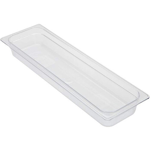 Rubbermaid 2/4 Size 65mm 2.4L Gastronorm GN Food Pan For Cold Food Clear