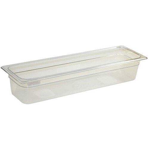 Rubbermaid 2/4 Size 100mm 5.2L Gastronorm GN Food Pan For Cold Food Clear