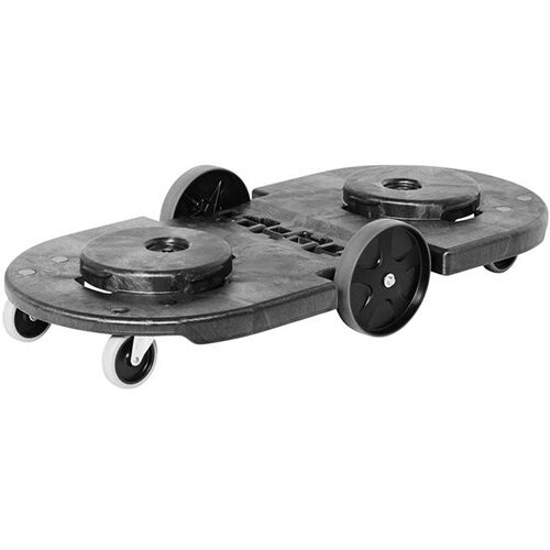 Rubbermaid Tandem BRUTE Folding Dolly For 2 BRUTE Containers Black