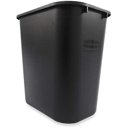 Rubbermaid 26.6L Rectangular Waste Basket Black