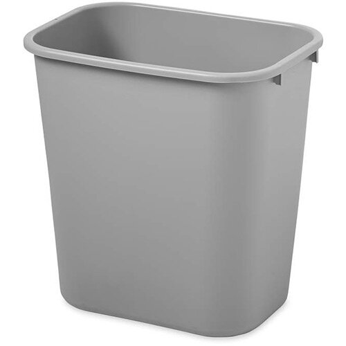 Rubbermaid 26.6L Rectangular Waste Basket Grey