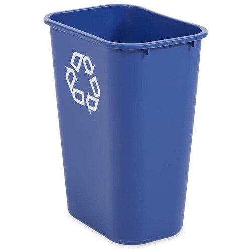 Rubbermaid 39L Rectangular Waste Basket Blue