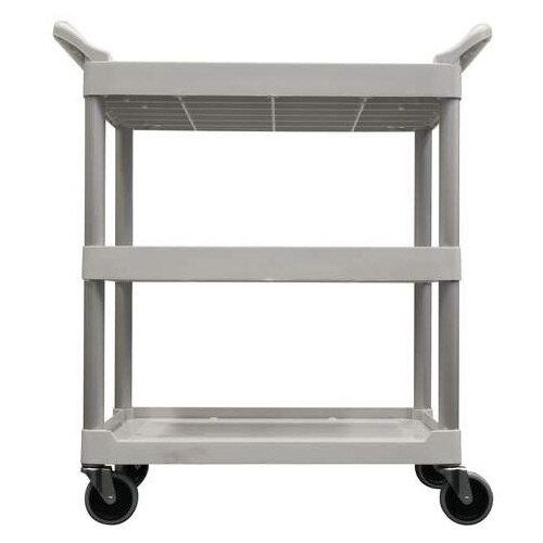 Rubbermaid Light Duty Utility Cart 3 Shelf Service Cart White