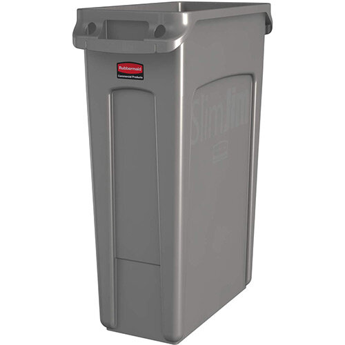 Rubbermaid Slim Jim 87L Waste Container With Venting Channels Beige