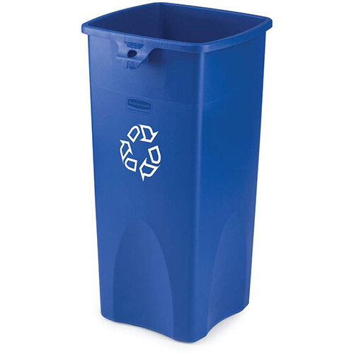 Rubbermaid 87L Square Recycling Container Blue