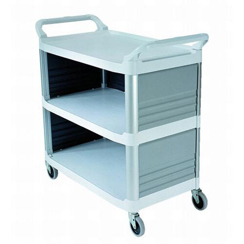 Rubbermaid X-Tra Service Cart With 3 Closed Sides White